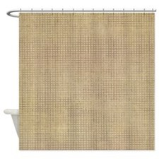 Faded Burlap Shower Curtain