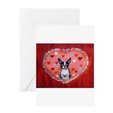 Boston Terrier Valentine Greeting Cards