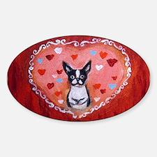 Boston Terrier Valentine Decal
