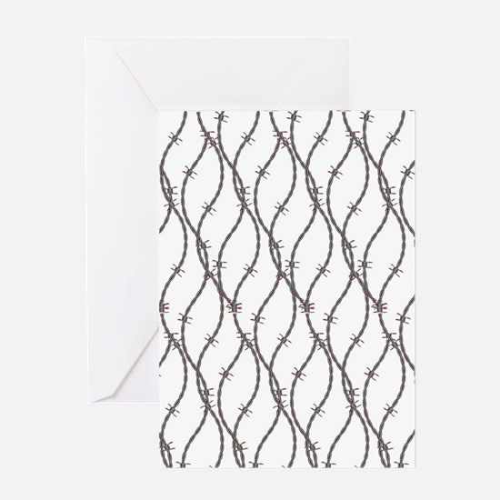 Bloody Barbed Wire Greeting Card