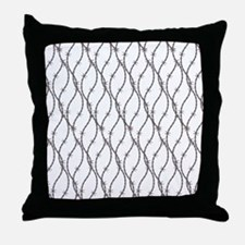Bloody Barbed Wire Throw Pillow