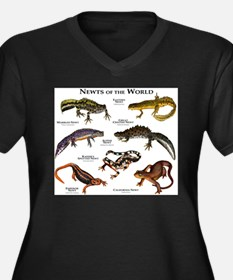 Newts of the Women's Plus Size V-Neck Dark T-Shirt