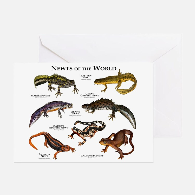 Newts of the World Greeting Card