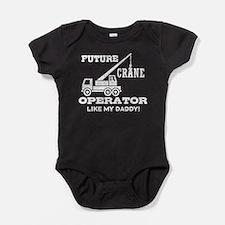 Funny Crane operator Baby Bodysuit