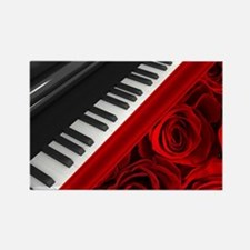 Piano and Roses Rectangle Magnet
