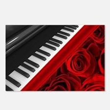 Piano and Roses Postcards (Package of 8)