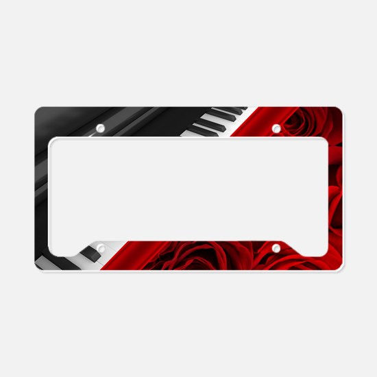 Piano and Roses License Plate Holder