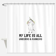 Unicorns And Rainbows Shower Curtain