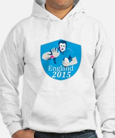 Rugby Player Fending England 2015 Shield Hoodie