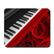 Piano and Roses Mousepad