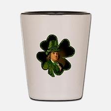 Lucky Ben Franklin by Gravityx9 Shot Glass