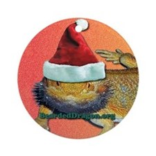 Beardie Christmas Ornament (Round)