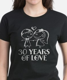 30th Anniversary chalk couple Tee