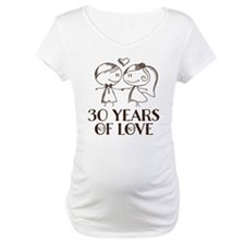 30th Anniversary chalk couple Shirt