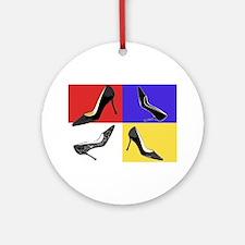 Homage to Mondrian Ornament (Round)