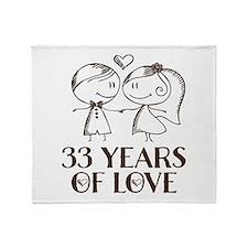 33rd Anniversary chalk couple Throw Blanket