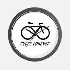 Cycle Forever Wall Clock