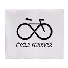 Cycle Forever Throw Blanket