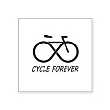 """Cycle Forever Square Sticker 3"""" x 3"""""""