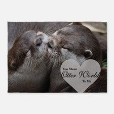 You Mean Otter World To Me Otters K 5'x7'Area Rug