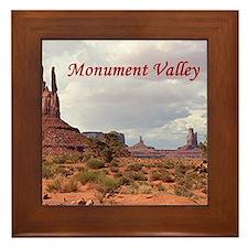 Monument Valley, Utah, USA 2 (caption) Framed Tile