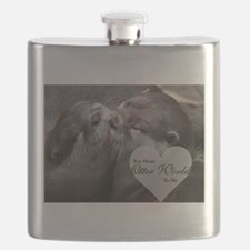 You Mean Otter World To Me Otters Kissing Flask