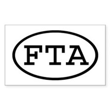 FTA Oval Rectangle Decal