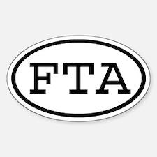FTA Oval Oval Decal