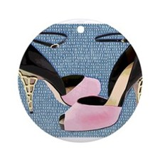 Patent Leather with Sculpted Meta Ornament (Round)