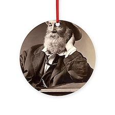Walter Walt Whitman American Poet Ornament (Round)
