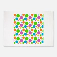 vintage clown dots 5'x7'Area Rug