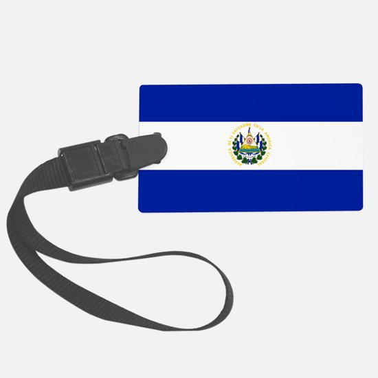 El Salvador flag Luggage Tag