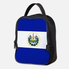 El Salvador flag Neoprene Lunch Bag