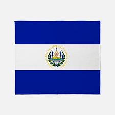 El Salvador flag Throw Blanket