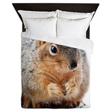 Winter Squirrel Queen Duvet