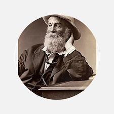 """Walter Walt Whitman American Poet Essa 3.5"""" Button"""