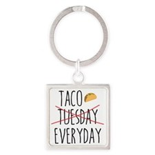 Tacos Square Keychain