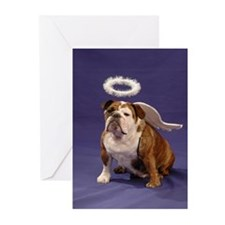 Chubby Angel-Blue Cards--BLANK (Pk of 10)