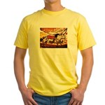 LASCAUX CAVE PAINTING Yellow T-Shirt