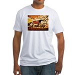LASCAUX CAVE PAINTING Fitted T-Shirt