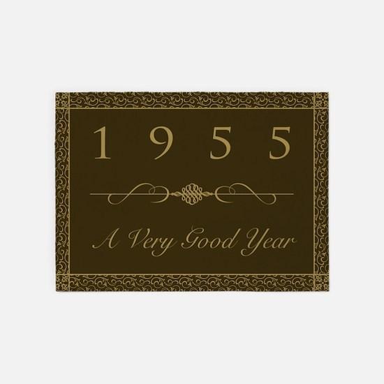 1955, A Very Good Year 5'x7'Area Rug