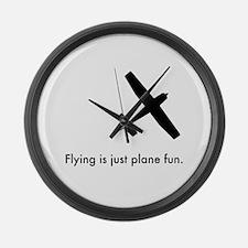 Plane Fun 1407044 Large Wall Clock