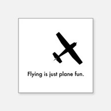 "Plane Fun 1407044 Square Sticker 3"" x 3"""