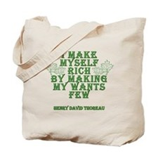 Henry David Thoreau Quote - I make myself rich...