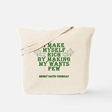 Henry David Thoreau Quote - I make myself rich...