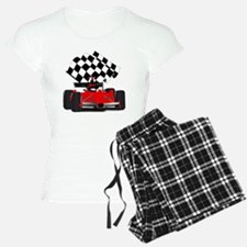 Red Race Car with Checkered Pajamas