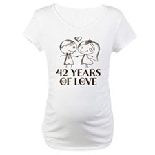 42nd Anniversary chalk couple Shirt
