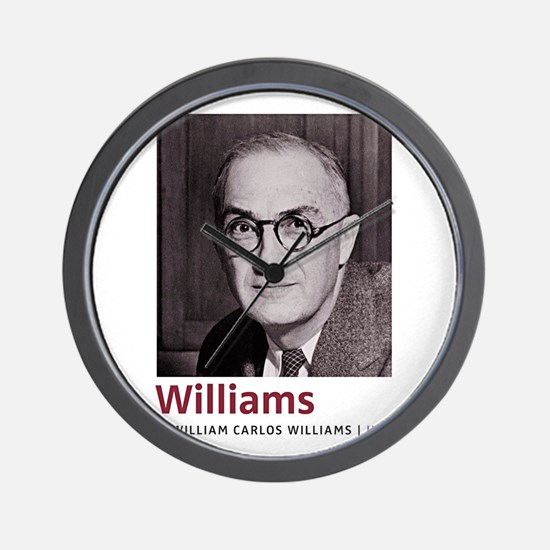 William Carlos Williams Latino-American Wall Clock