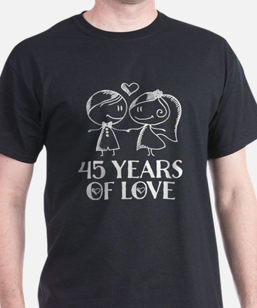 45th Anniversary chalk couple T-Shirt