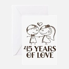 45th Anniversary chalk couple Greeting Card